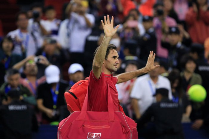 Roger Federer of Switzerland leaves after losing his match against Alexander Zverev of Germany. Reuters