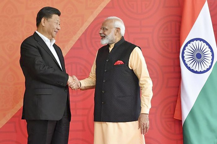 The countries also decided to establish an academy to study links between Mamallapuram and Fujian province in China. PTI Photo