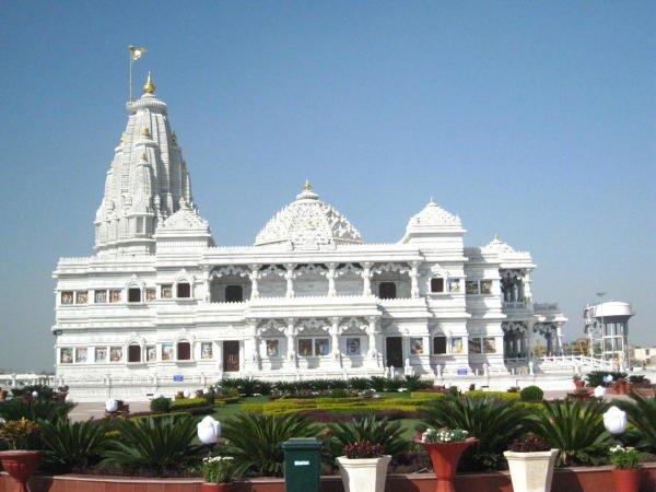 Prem Mandir Vrindavan, Mathura. (Wikipedia Photo)