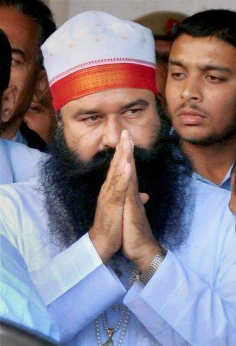 Dera Sacha Sauda chief Baba Gurmeet Ram Rahim Singh. (PTI Photo)