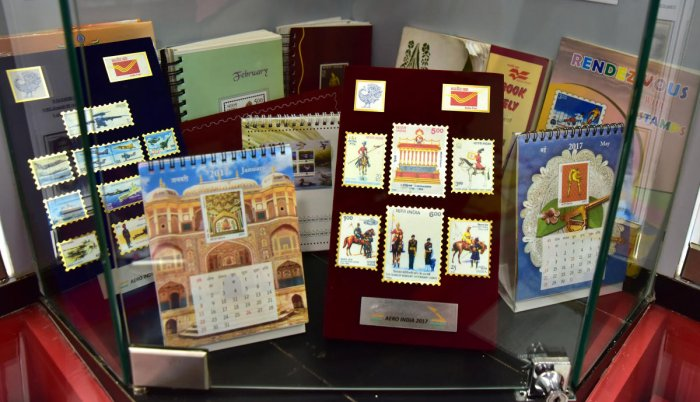The collection at the Philatelic Bureau in Head Post Office, Pandeshwar, Mangaluru.