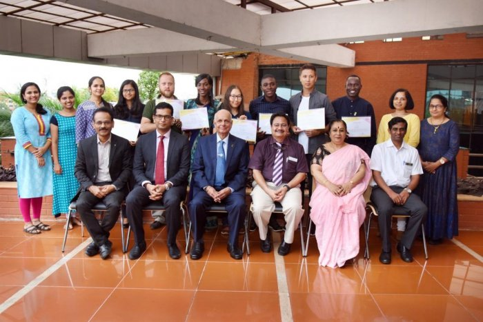 Doctors from Africa, who completed three month certificate course in IVF training, in Manipal.