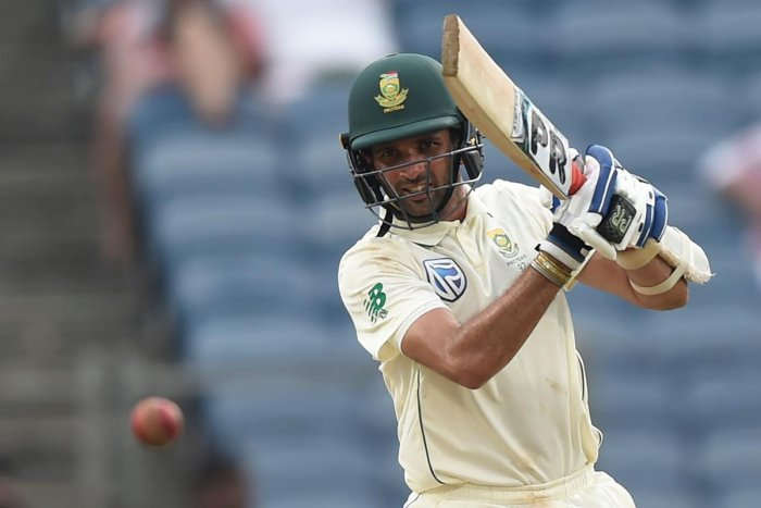 South Africa's batsman Keshav Maharaj produced a gutsy performance against India on the third day of the second Test in Pune on Saturday. AFP