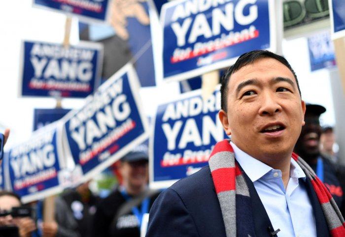 Democratic 2020 U.S. presidential candidate and entrepreneur Andrew Yang. Reuters photo