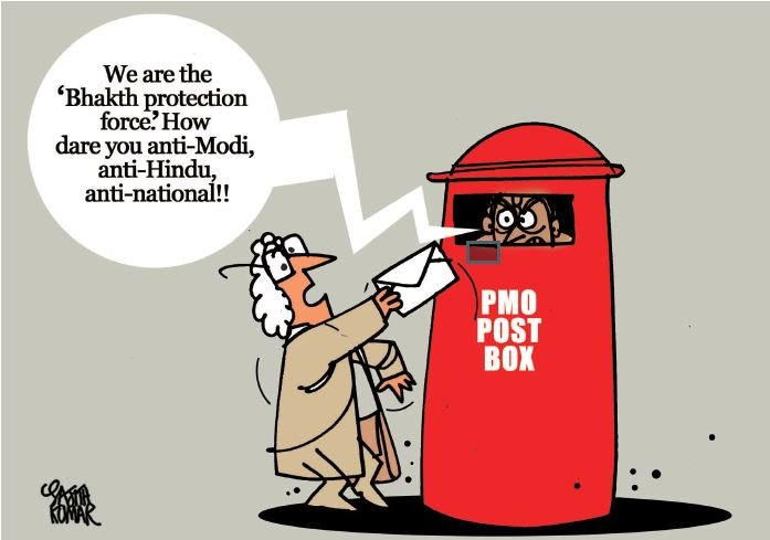 PMO Post Box. (Cartoon by - Sajith Kumar)