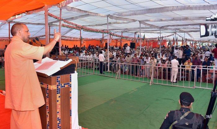 Uttar Pradesh Chief Minister Yogi Adityanath. (PTI Photo)