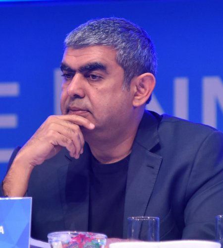 Vishal Sikka, former Chief Executive Officer Infosys (DH File Photo)