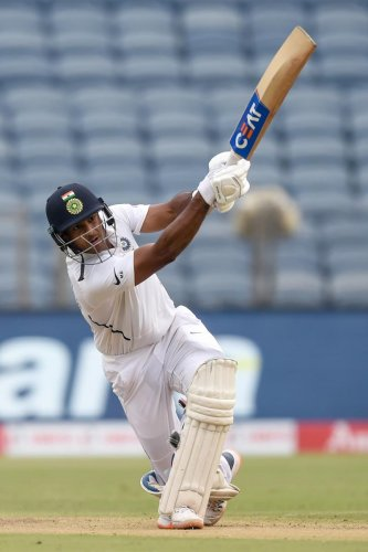 Opener Mayank Agarwal has quickly established himself as a permanent fixture in the Indian side with a series of good performances in Tests. AFP