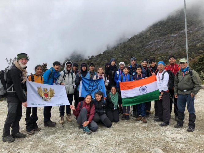 Indus School students' expedition to Mt Kinabalu in Malaysia.