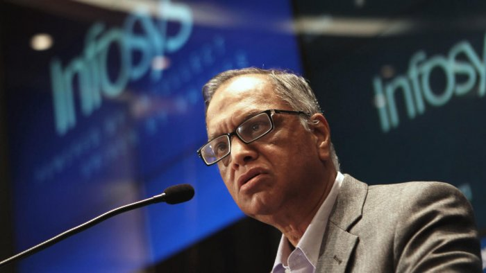 Founding member of Infosys, N.R. Narayana Murthy (Photo by AFP)