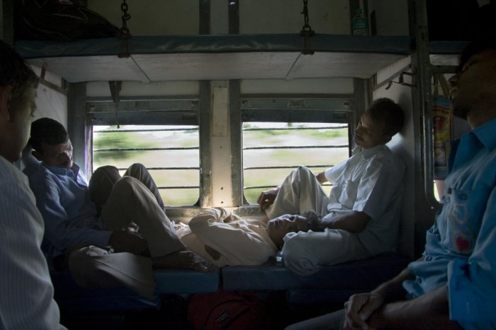 Indian passengers sleeping inside a moving train. (File Image)