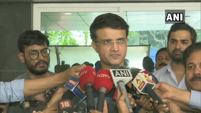 Ganguly pipped Brijesh Patel in a see-saw battle and is expected to be the only presidential nominee. (Twitter/ANI)