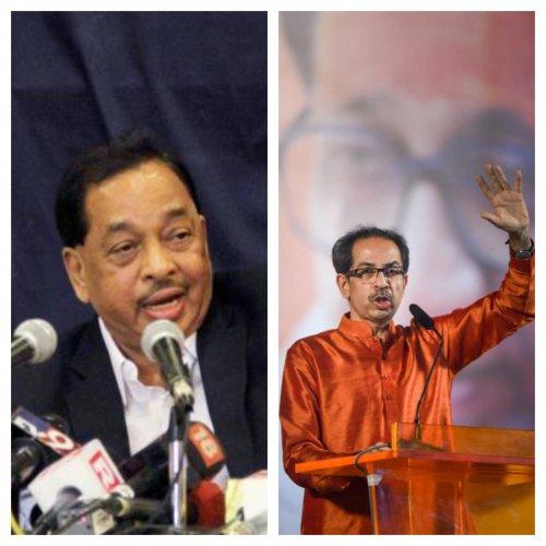 Narayan Rane and Shiv Sena president Uddhav Thackeray.