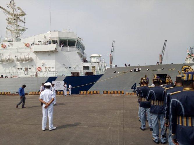 Coast Guard ship Varaha. (DH photo)
