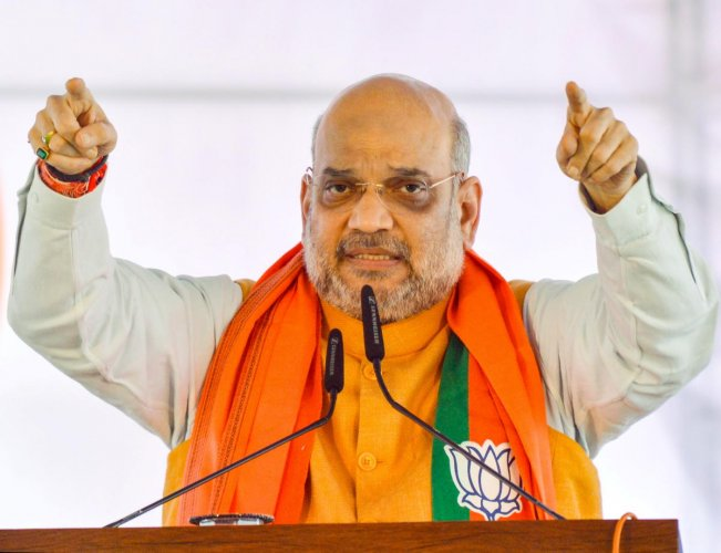 Union Home Minister Amit Shah on Monday said abrogation of Article 370 will bring long-lasting peace in Jammu and Kashmir. Photo/PTI