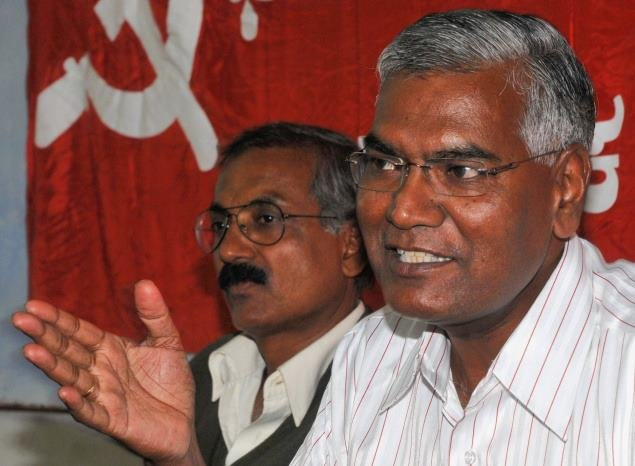 "Communist Party of India general secretary D Raja said, ""Our primary objective is to defeat the BJP and its allies."" Photo/Facebook (D Raja)"