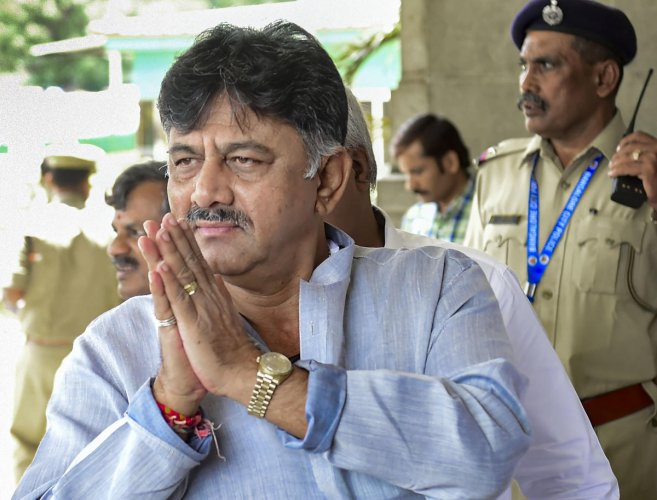 The agency had issued a summons to DK Shivakumar's mother to appear before its investigators on Tuesday but she skipped the questioning. Shivakumar's wife Usha has been summoned by the ED on Thursday. Photo/PTI