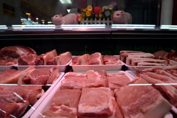 Pork for sale is seen at a Walmart in Beijing, China September 23, 2019. (Reuters File Photo)