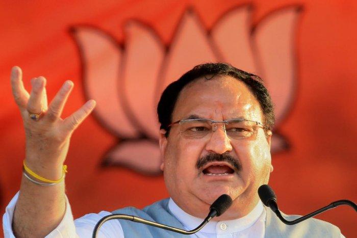 BJP Working President JP Nadda (PTI Photo)