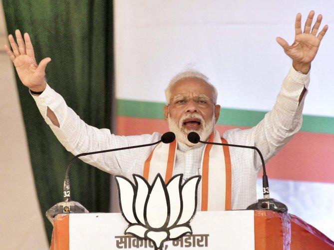 "Modi described it as an ""important milestone"" towards a healthy India. (PTI File Photo)"