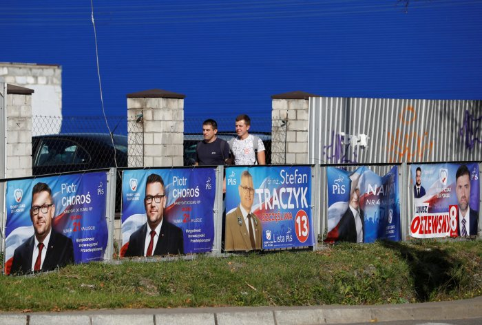 Election posters in Poland (Reuters Photo)