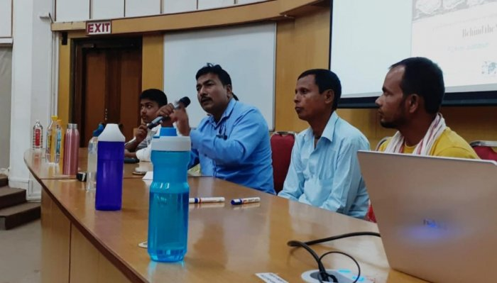 NRC victims talking about their pangs in IIT Bombay on Saturday. Photo by Zamsher Ali