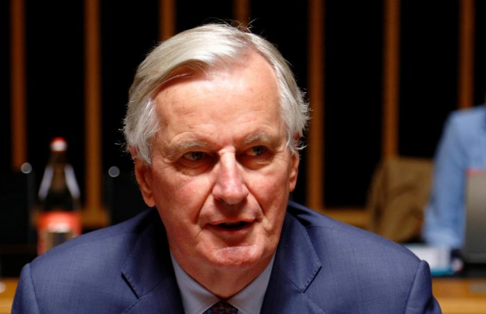 EU's Chief Brexit Negotiator Michel Barnier attends the General Affairs council addressing the state of play of Brexit, in Luxembourg October 15, 2019. (REUTERS)