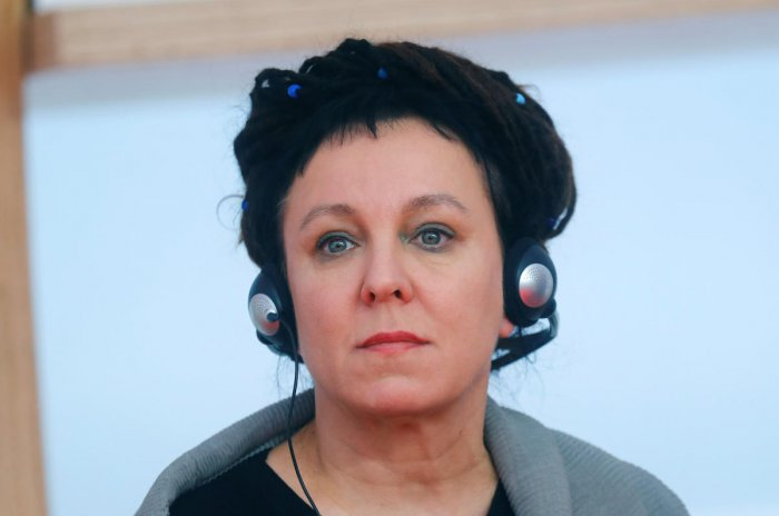 Literature Nobel Prize 2018 winner Olga Tokarczuk attends the opening news conference of the Frankfurt book fair, Germany, October 15, 2019. REUTERS/Ralph Orlowski