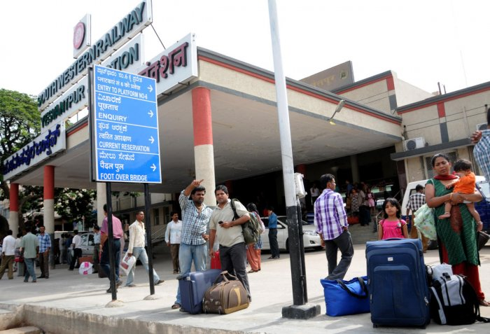 The proposal on the new terminal has been placed before the Railway Board. Ultimately, decisions need to be taken at the ministry level for which political will is more important, a senior official said. DH FILE PHOTO