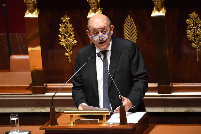 French Foreign Minister Jean-Yves Le Drian. (AFP photo)