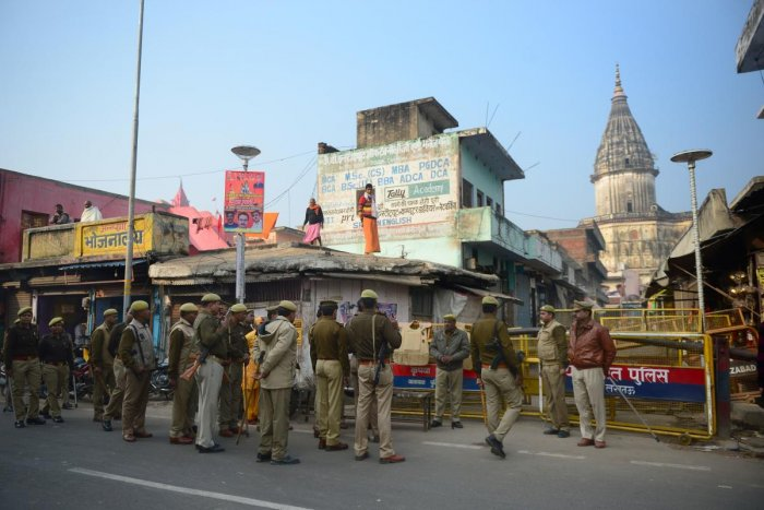 Security arrangements in Ayodhya town were being tightened and an alert had been sounded. (PTI File Photo)