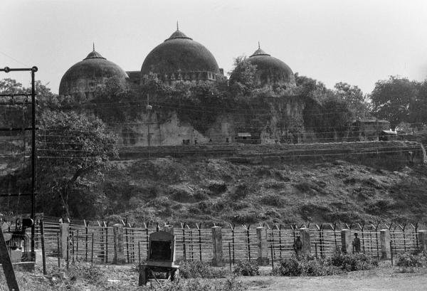 File photo dated October 1990 shows Babri Masjid in Ayodhya. (PTI photo)