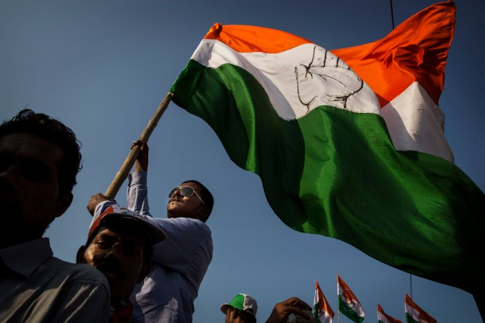 Indian National Congress flag. (Getty images)