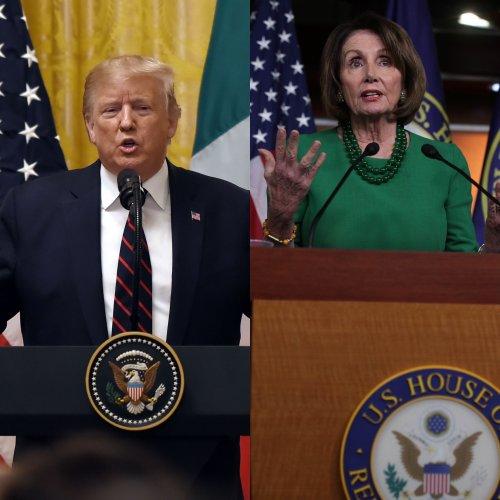 US President Donald Trump and House Speaker Nancy Pelosi. (Dile Photo)