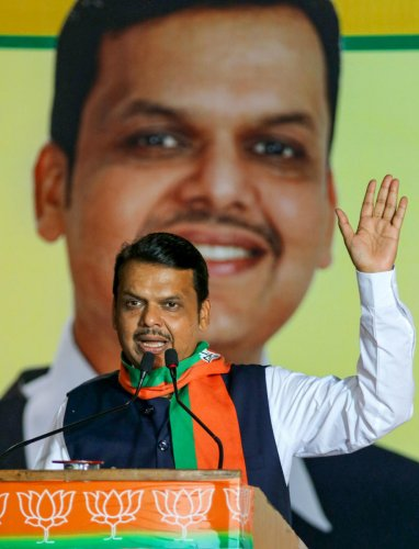 Maharashtra Chief Minister and BJP candidate from Nagpur South-West constituency Devendra Fadnavis (PTI Photo)