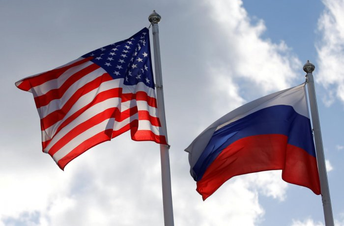Russian and U.S. state flags (Reuters Photo)