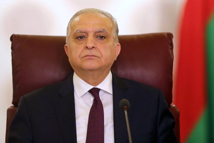 Iraq's Foreign Minister Mohammed Ali al-Hakim attends the Arab Foreign Ministers extraordinary meeting to discuss the Syrian crisis in Cairo, Egypt. (AFP Photo)
