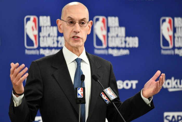 NBA Commissioer Adam Silver. AFP Photo