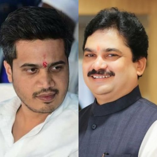 NCP's Rohit Pawar and BJP's Prof Ram Shinde. (File Photo)