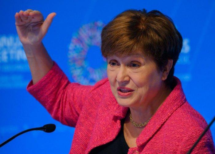IMF, International Monetary Fund Managing Director Kristalina Georgieva (AFP Photo)
