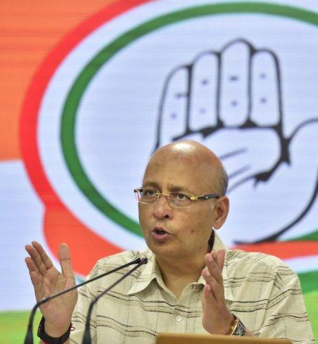 Abhishek Singhvi. (PTI File Photo)