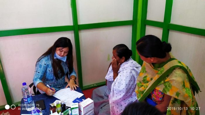 A free medical camp organised on October 13 in the Yellhoumee Health Care, Imphal. DH Photo
