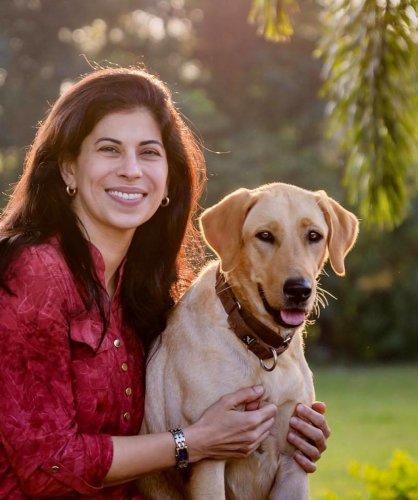 Canine behaviourist Shirin with her dog Maya.