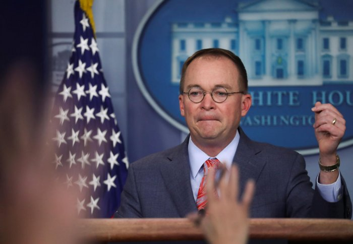 White House Chief of Staff Mick Mulvaney (Reuters Photo)