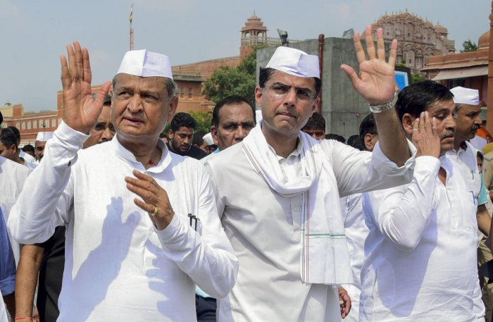 The bypolls are also crucial for Rajasthan Pradesh Congress Committee president and Deputy Chief Minister Sachin Pilot. Pilot has exuded confidence that the party will win both the seats. (PTI File Photo)