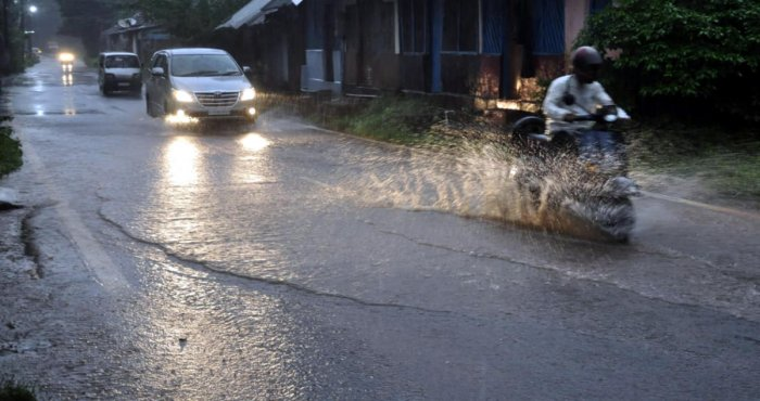 Heavy rain lashed various parts of Kodagu on Monday. DH file photo