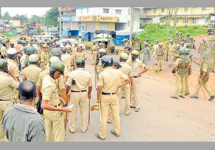 Security has been stepped up in Kodagu district following protests against the Tipu Jayanti celebrations planned on November 10. DH file photo