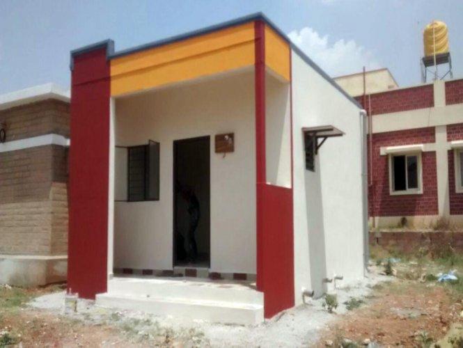 A house constructed using composite material near Chikkapetehalli near Yelahanka in Bengaluru.
