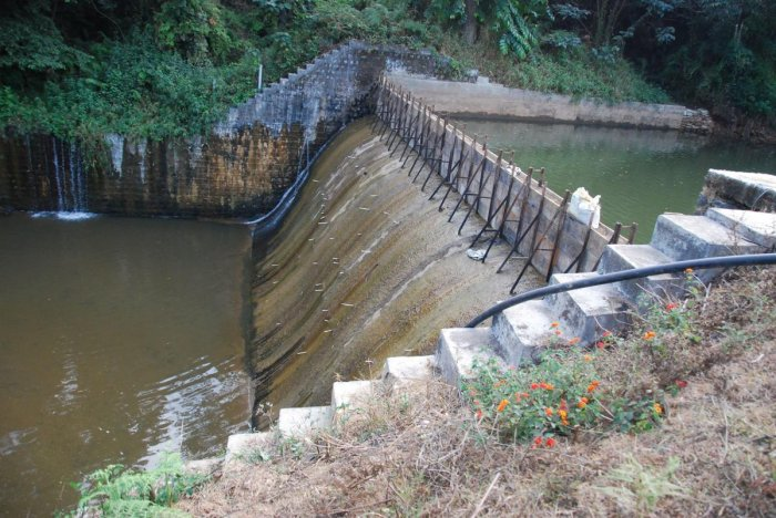 The inflow to Kootuhole check dam in Madikeri has reduced.