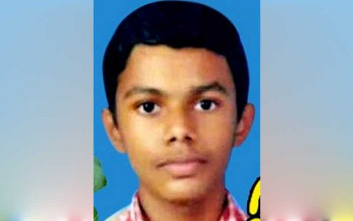 Apheel Johnson, who died after hammer struck on his head during a sports meet in Kerala